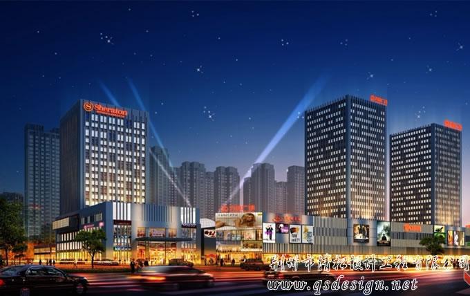 荆州万达广场效果图